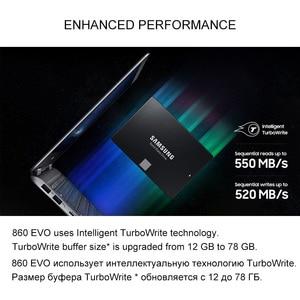 Image 2 - Samsung ภายใน Solid State Drive 860 EVO SSD 250GB 500GB 1TB SATA 3 ฮาร์ดดิสก์ 2.5 นิ้ว disk HD SATA III SSD สำหรับแล็ปท็อปคอมพิวเตอร์