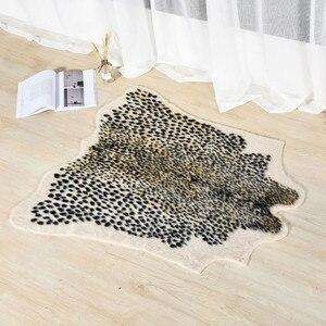 Image 2 - Họa Tiết Da Báo Thảm Giả Da Bò Da Thảm Động Vật In Hình Lông Khăn Trải Cho Trang Trí Phòng Khách 110x95cm