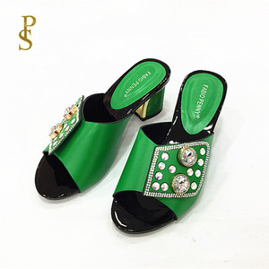 Image 5 - Womens slippers Nigerian womens slippers with diamonds for womens shoes