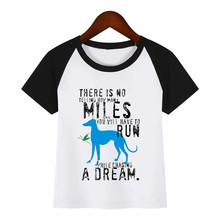 Boys and Girls Anime Greyhound Dog Animal Pet Funny Print T Shirt Baby Kids Funny Clothes Chirden Summer T-shirt brindle greyhound animal print t shirt men dog lovers funny t shirts homme harajuku shirt summer tops white tshirt streetwear