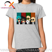 Reservoir Kame Bulma Goku Master Roshi & Krillin T Shirts Parodie Reservoir Honden Ontwerp Dragon Ball T-shirt Super Saiyans Tops tees(China)