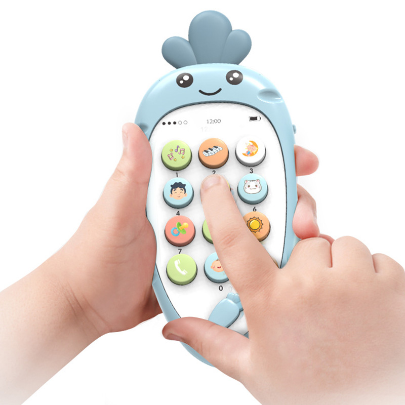 Baby Cellphone Early Education Toy Music With Teether Practice Learning Mobile Phone Toy Chrismtas Gifts