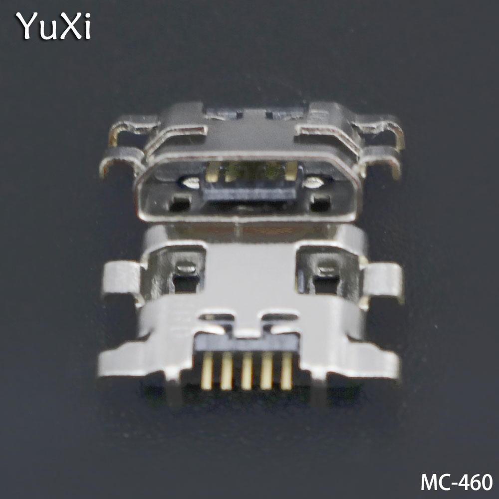YuXi 10pcs/lot Micro Mini USB Jack Socket Charging Port Dock Connector For Lenovo Vibe A7020 K52t38 K52e78 K5 Note For Meizu