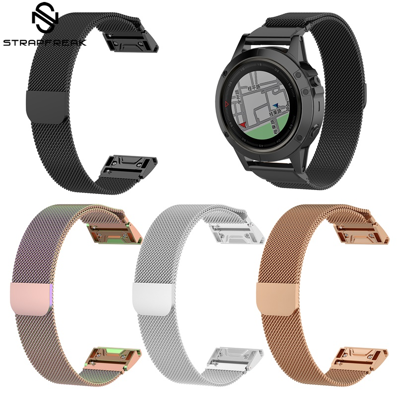 Milanese Watchband for Garmin Fenix 5X 5 5S Plus 3 3 HR Forerunner 935 Watch Quick Release Easy fit Wrist Strap 26mm 22mm 20mm image