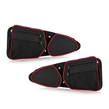 Side Door Pocket,Front Door Side Storage Bag Set with Knee Pads for 2014 2015 2016 2017 2018 2019 Polaris RZR XP 1000 900XC S900