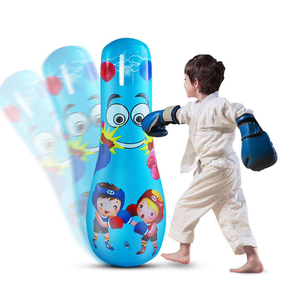 1.2M Children Tumbler Punching Bag Home Gym Boxing Fitness Inflatable For Kids Boxing Sandbag Toy Thickened Fitness Stress