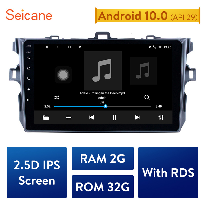 """Seicane 9"""" Android 10.0 Car GPS Multimedia For 2006 2007 2008 2009 2010 2011 2012 Toyota Corolla Navi Player Support Bluetooth(China)"""