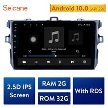 """Seicane 9 """"Android 10.0 nawigacja samochodowa GPS Multimedia dla 2006 2007 2008 2009 2010 2011 2012 Toyota Corolla Navi Player obsługa Bluetooth"""