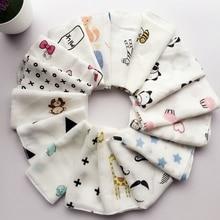 Kids Towels Handkerchiefs Wipe Woven Muslin Baby Cotton 6-Layer Infant Adult 5--10pcs