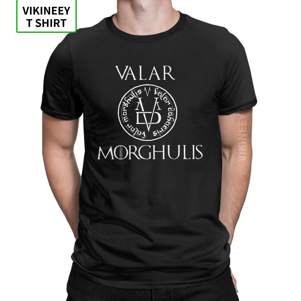 Man's Game Of Thrones T Shirt Valar Moghulis Raglan T-Shirts Amazing O Neck Short Sleeve Clothes 100% Cotton Tees Plus Size