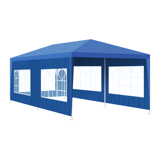 3x6m 3x9m Gazebo Waterproof Pavilion Tents Garden Tent with 6 Side Walls for Wedding Party Patio