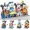 Nuovo film blocchi completi blocchi giocattolo Mickey Disney Minnie Duck Castle sfilata modello di auto blocchi per ragazze ragazzo giocattolo regalo Unisex