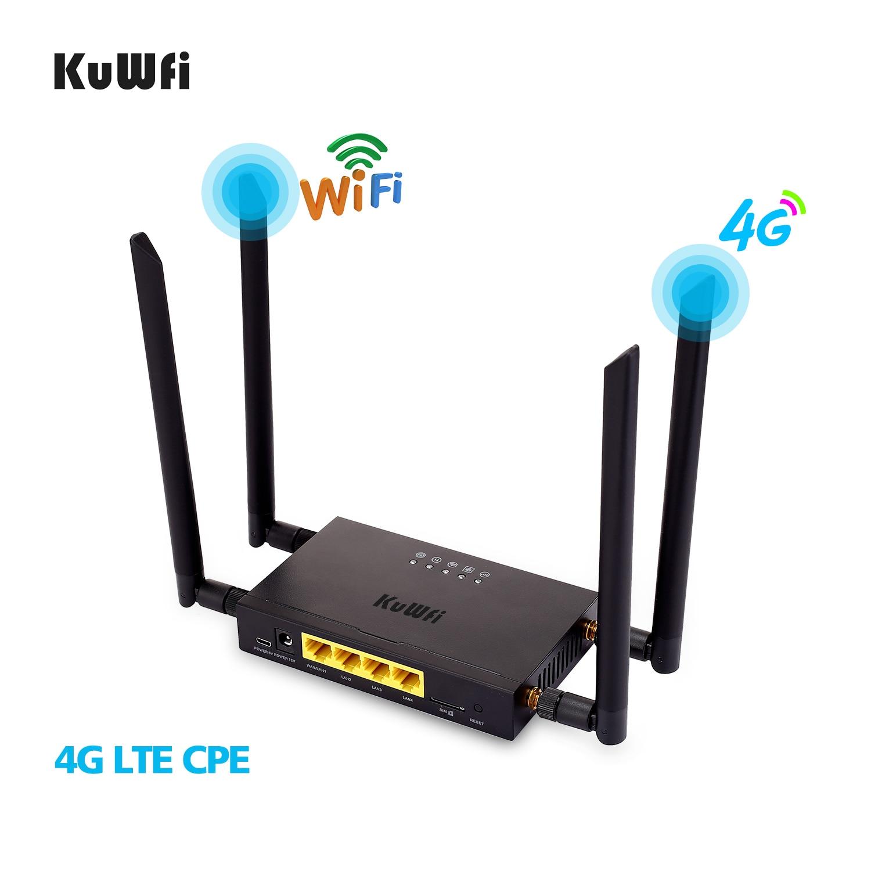 kuwfi 4g lte wifi wireless router 300mbps katze. Black Bedroom Furniture Sets. Home Design Ideas