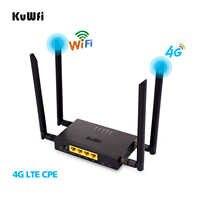 KuWFi 4G LTE WiFi Wireless Router 300Mbps Katze 4 High Speed Wifi CPE mit SIM Karte Slot und 4 stücke Externe Antennen BIS Zu 32 benutzer