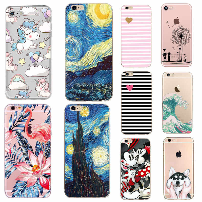Cartoon Patroon Fundas Case Voor iPhone 6S 5S SE 7 8 Plus X XS Max XR Case Silicon coque Voor Apple iPhone 7 Case Soft Phone Cover