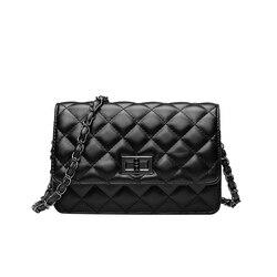 Moda feminina clássico designer bordado xadrez bolsa corrente mini aleta ol crossbody saco de ombro para escritório diariamente