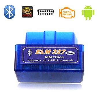 2020 Mini Elm327 Bluetooth OBD2 V1.5 Car Diagnostic Tool ELM 327 V 1.5 Diagnostic Car Scanner For Android Real PIC18F25K80 Chip цена 2017