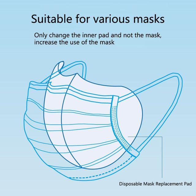 50pcs Anti-fog Mask Gasket Disposable Dust Mask Filter Anti-flu Formaldehyde Odor Bacteria Protection Mask Protection Sheet 3