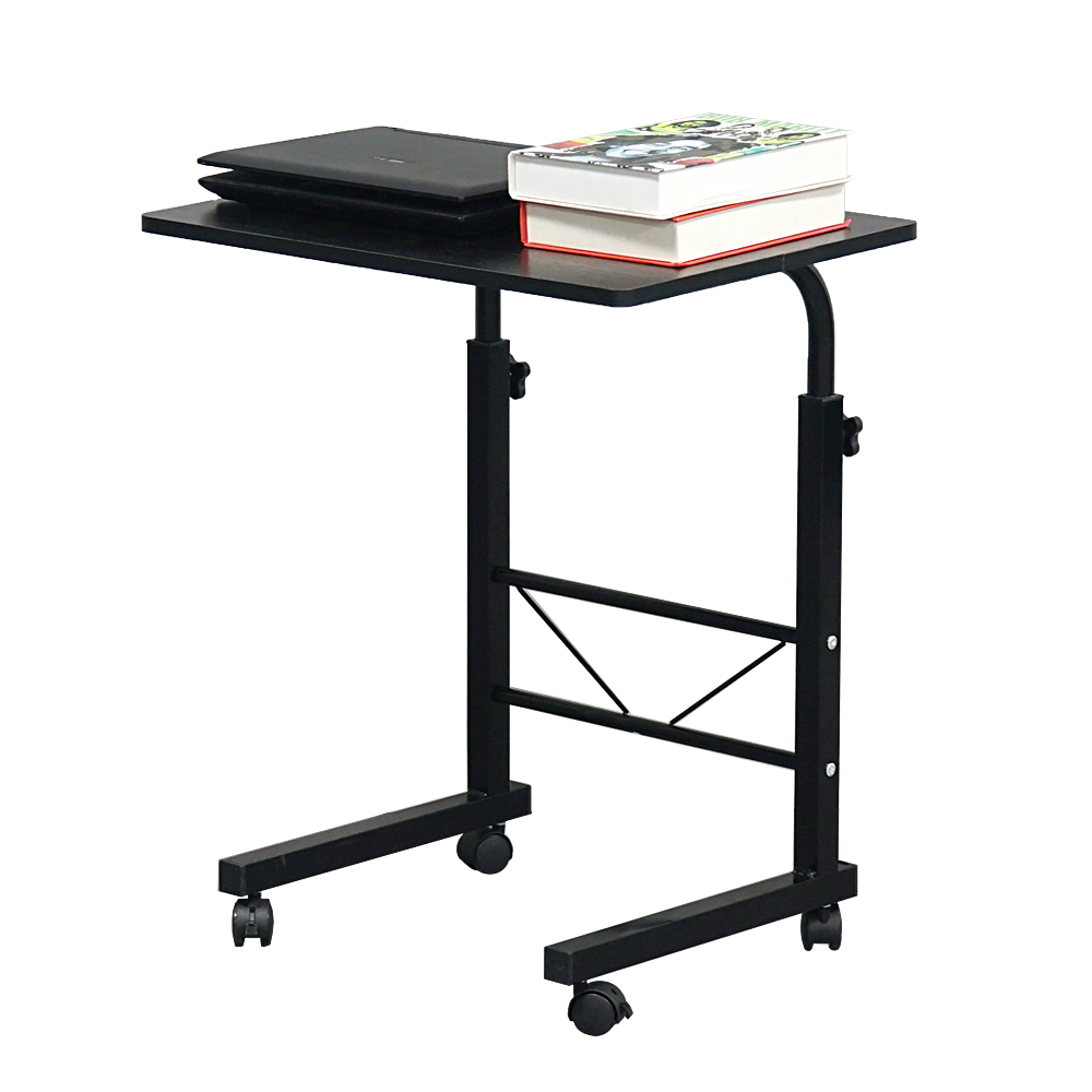 【US Warehouse】Removable E1 15MM Chipboard & Steel Side Table Black S(Computer Desk Table)