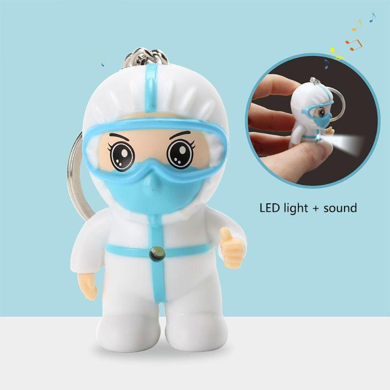Anti epidemia lembrança anjo branco chaveiro dos desenhos animados enfermeira chaveiro pingente brinquedos|Chaveiros|   -