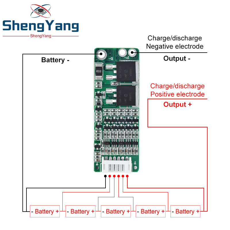 Шэньян 5S 15A литий-ионный Аккумулятор литиевый аккумулятор BMS 18650 Зарядное Устройство Защиты доска 18V 21V клеток защита от короткого замыкания