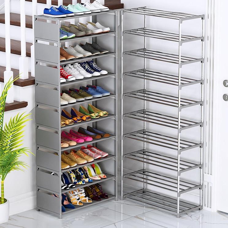 Многослойная стойка для обуви, простая сборка, органайзер для обуви, стойка для хранения пространства, шкафы для обуви, мебель для дома, стой...