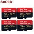 SanDisk PRO Micro SD карта памяти  64 ГБ 128 ГБ 256 Гб 400 ГБ 512 ГБ MicroSDXC U3 V30 A2 карта флэш-памяти TF / Micro SD