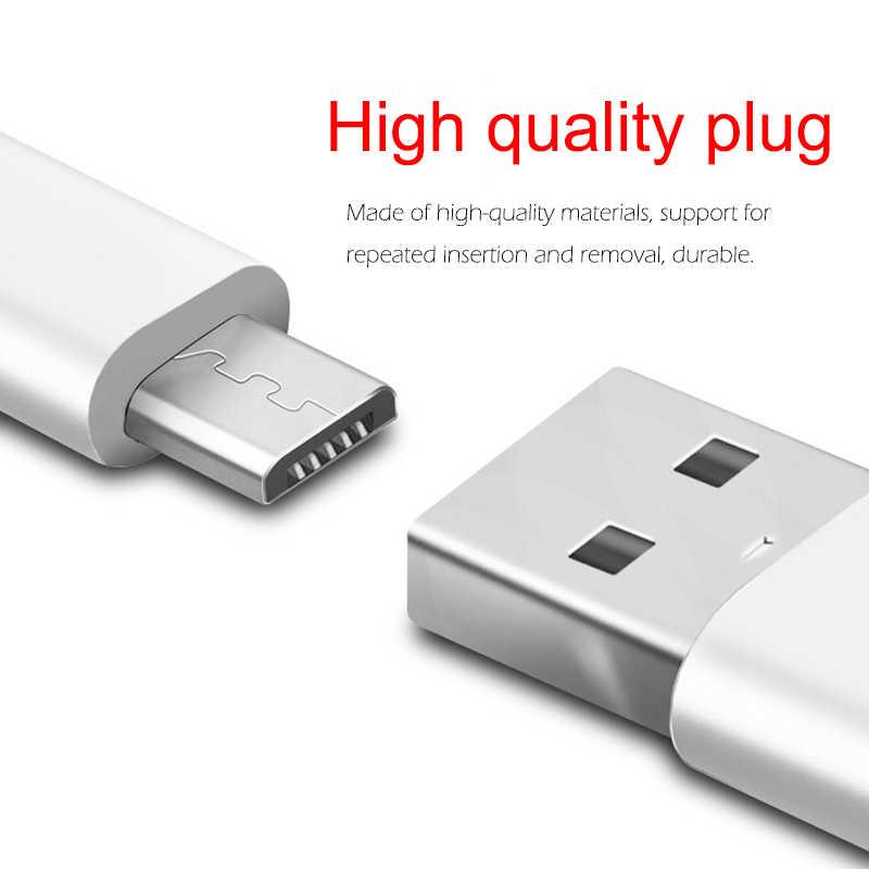 โทรศัพท์ Micro USB สายโทรศัพท์มือถือ Android ข้อมูลสาย 2A Fast Charging 0.25m 0.5m 1m 1.5m 2m 3m สายไฟ