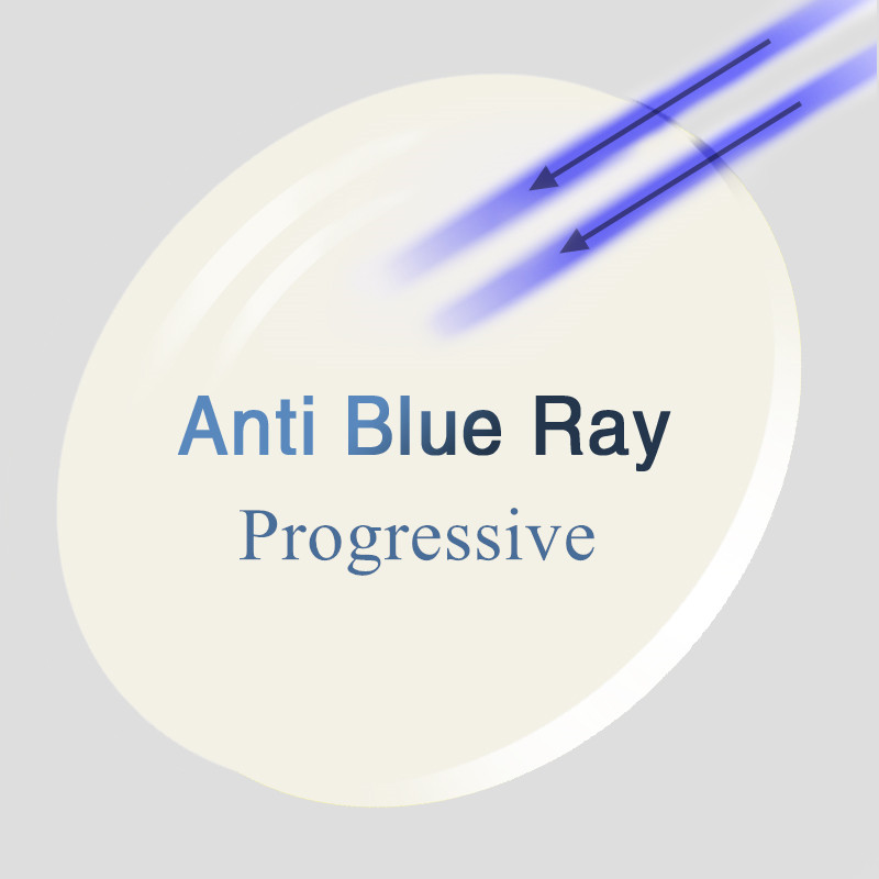 1.56 1.61 1.67 (+ 10.00 ~-10.00) lentilles de verres de résine de CR-39 de Prescription bleue lentilles de presbytie d'hyperopie de myopie Progressive