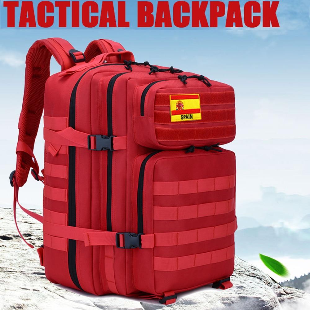 45L Military Molle Backpack Tactical Army Men Travel Waterproof Rucksack Tourist Bagpack Rain Cover Mochila Tatica Camping Canta