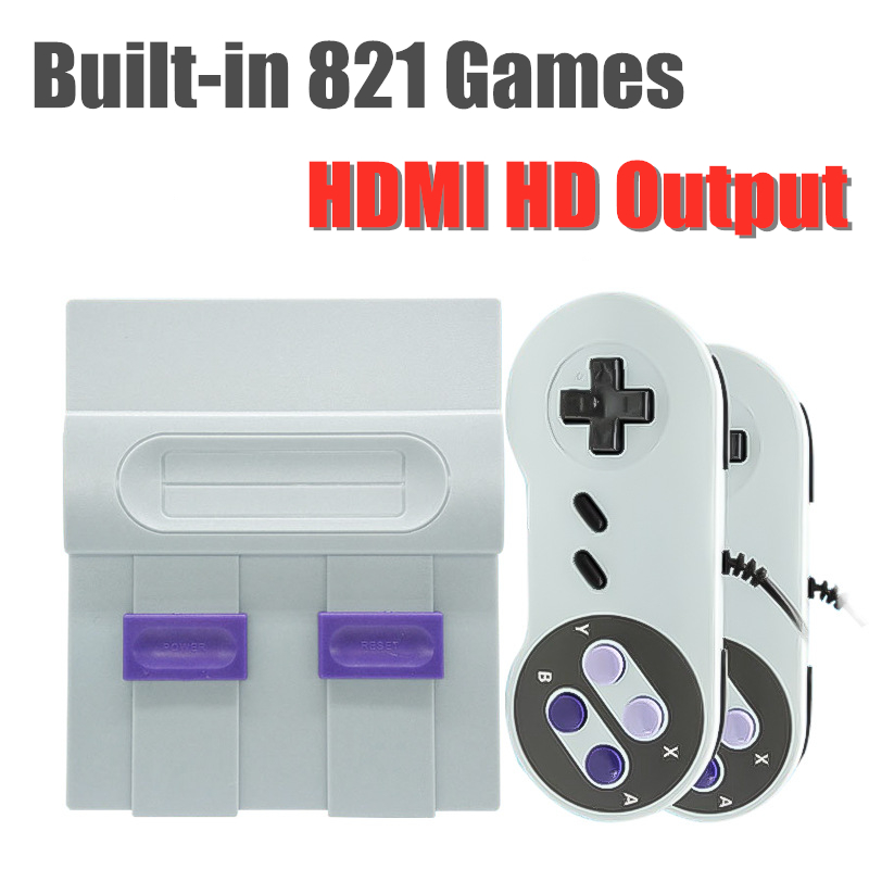 Mini TV Video Game Players HDMI 8 Bit Retro Game Console With 821 Classic Games For NES SFC Handheld Gaming Console Best Gift