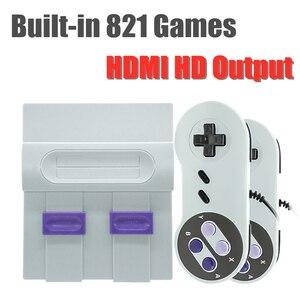 Mini telewizor gra wideo graczy HDMI 8 bitowy Retro konsola do gier z ponad 821 klasyczne gry dla NES SFC ręczny konsola do gier najlepszy prezent