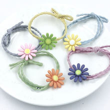 2019 Hair Accessories Daisy Flower Elastic Rubber Bands Ring Headwear Girl Elastic Hair Band Ponytail Holder Hair Scrunchy Rope(China)