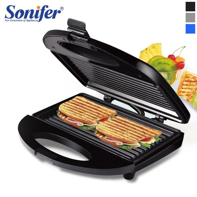 전기 와플 메이커 철 샌드위치 기계 비 스틱 팬 버블 계란 케이크 오븐 가정용 아침 식사 와플 기계 Sonifer