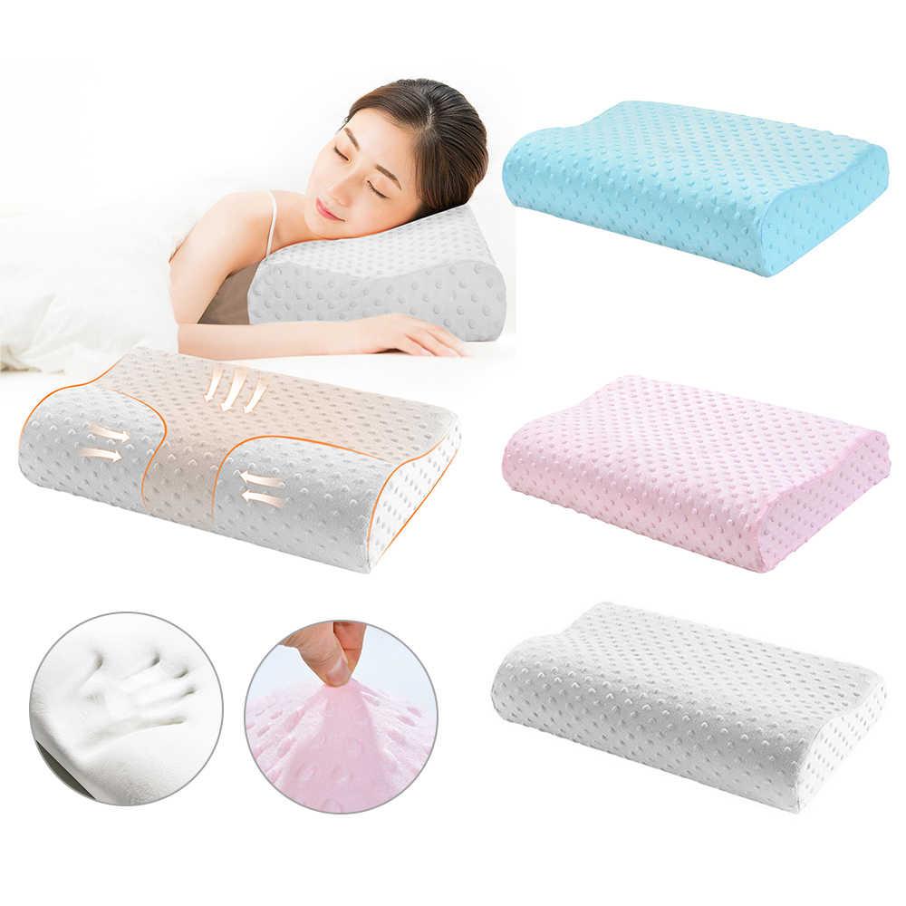 1 pc espuma de memória travesseiro ortopédico travesseiro de cama pescoço travesseiro fibra lenta rebote travesseiros massageador para cuidados de saúde cervical