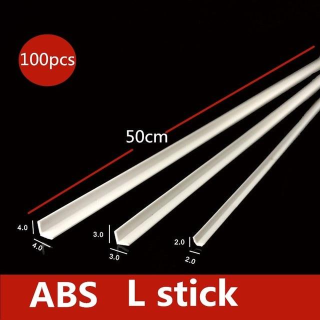 ABS tube rod L rod building model materials diy model making 1