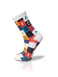 Colorful Checkered Alphabet Tennis Socks Unisex 36-42
