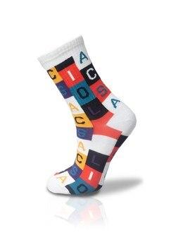 Colorful Checkered Alphabet Tennis Socks Unisex 36 42