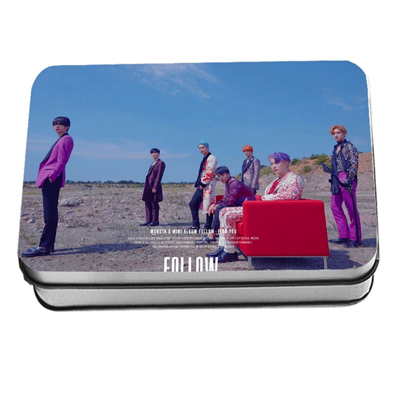 New 40Pcs/setKPOP MONSTA X Album Self Made Paper Lomo Card Photo Card Poster HD Photocard Fans Gift Collection
