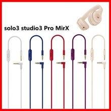 Cabo de 3.5mm para batidas estúdio 3 solo2.0 pro embutido fone de ouvido de microfone remoto de alta qualidade 2 plugues extensão cabo de áudio 140cm