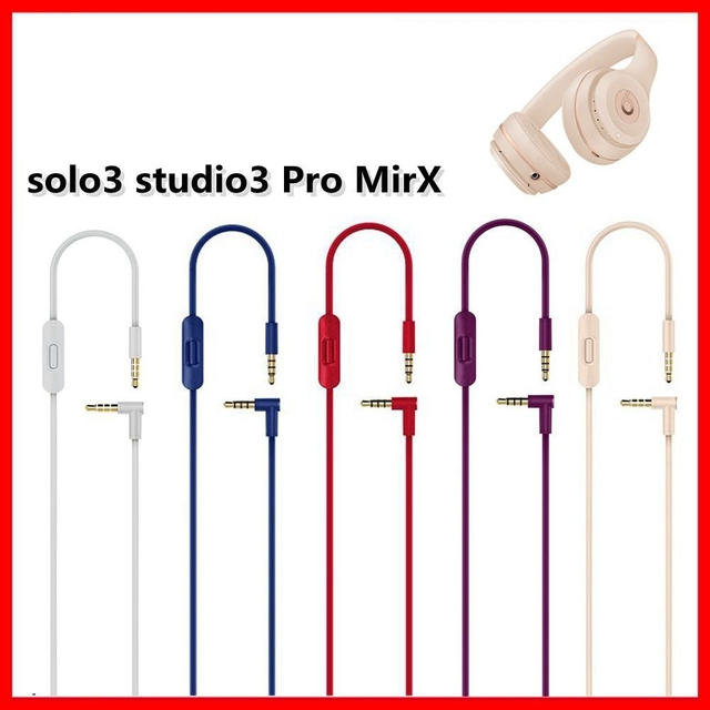 3.5mm Cable For Beats Studio 3 Solo2.0 pro Built in Remote Microphone Headset High Quality 2 Plugs Extension Audio Cable 140cm