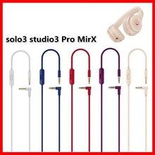 Cavo da 3.5mm per Beats Studio 3 Solo2.0 pro cuffie con microfono remoto incorporato cavo Audio di prolunga a 2 spine di alta qualità 140cm