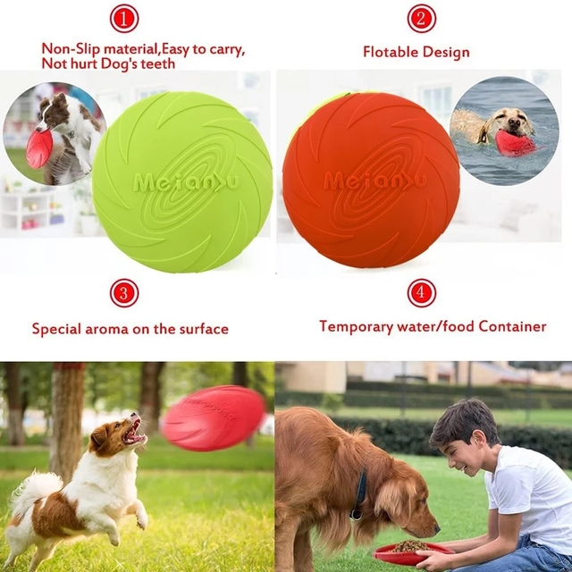 Safe Elastic Durable Tear-Resistance Floatable Frisbee For Many Hours Of Playtime . 4