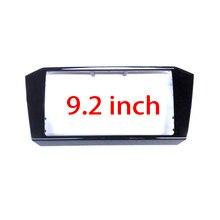 Para passat b8 2018 -- mib 3 cd 9.2 polegadas caixa guarnição pintura preta quadro de rádio painel cd placas