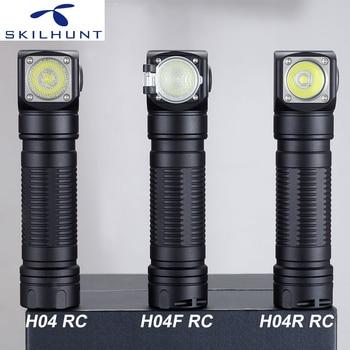 Новый Skilhunt H04 H04R H04F RC 1200 Люмен USB Магнитный перезаряжаемый светодиодный налобный фонарь для охоты, рыбалки, кемпинга + повязка на голову