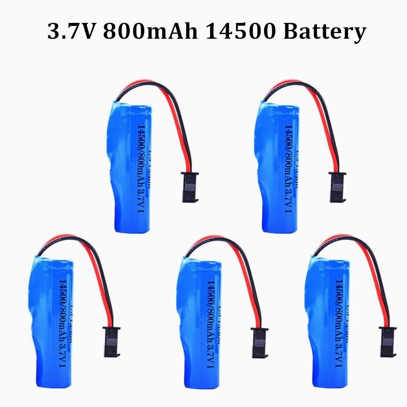 Для C2 D828 3,7 в 800 мАч 14500 перезаряжаемая батарея для игрушек на радиоуправлении вертолет автомобиль Бао Танк пистолет грузовик поезд мотоцикл...