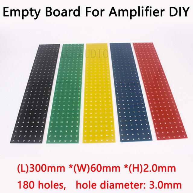 DIY Audio Board Tag Board Turret Board Test Board Empty Plate 300*60*2mm 180 Holes 1PC Tube Amplifier Parts  DIY