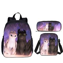 3 шт/компл портфель школьные сумки для мальчиков и девочек мультфильм
