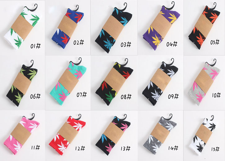 Winter High Quality Harajuku Style Weed Socks For Women Men's Cotton Hip Hop Socks Man  Mens  Breathable Socks Cheap Thermal