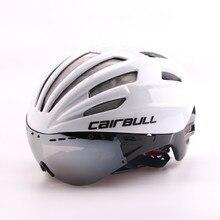 Cairbull Fiets Helm met Lens Ultralight MTB Road Aero Racefiets Fietshelmen Bril Casco Ciclismo 55-61 cm poc